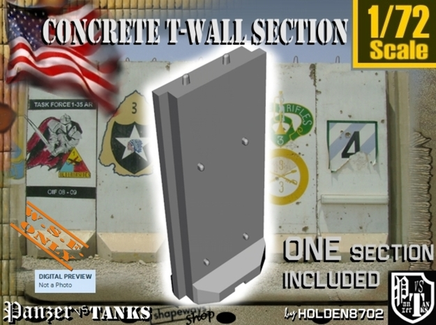 1/72 Concrete T-Wall Section