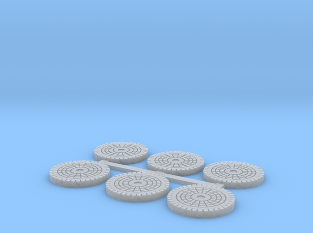 Water Manhole Covers in Smooth Fine Detail Plastic