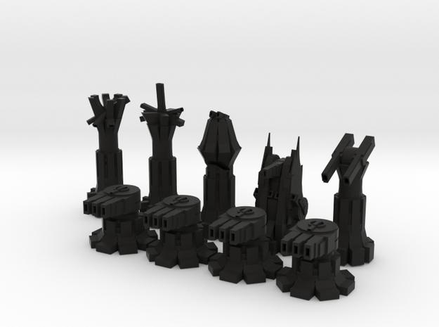 War Chess in Black Natural Versatile Plastic