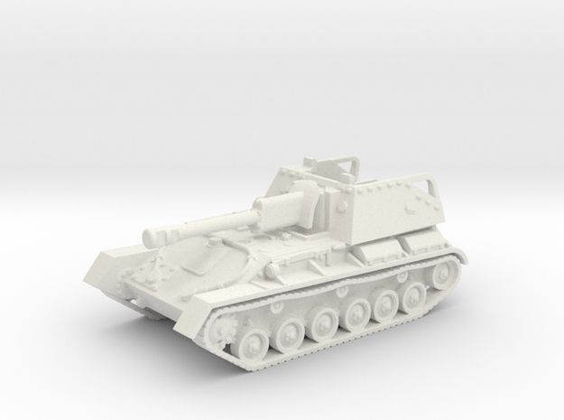 SU-76 M tank (Russian) 1/100 in White Natural Versatile Plastic