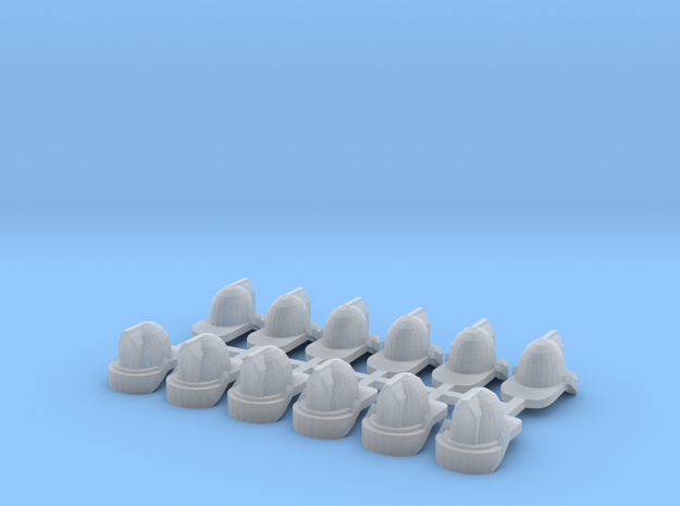 1/64 Fire Helmets (12) in Frosted Ultra Detail