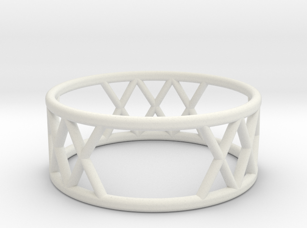 XXX Ring Size-7 in White Natural Versatile Plastic