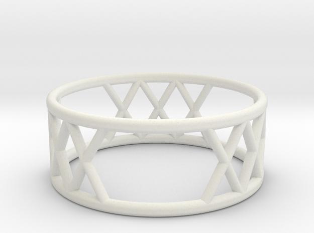 XXX Ring Size-7 in White Natural Versatile Plastic