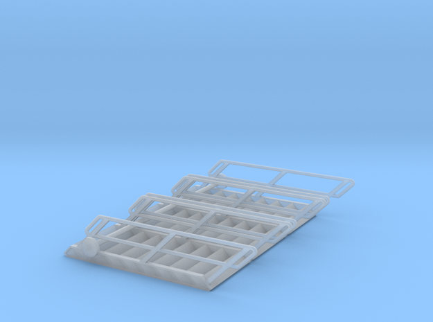 1:72 3x Stairs 9 in Smooth Fine Detail Plastic