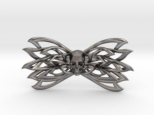 Bow tie Skull specially for Jeff  in Polished Nickel Steel