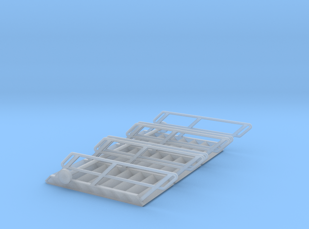 1:72 3x Stairs 8 in Smooth Fine Detail Plastic