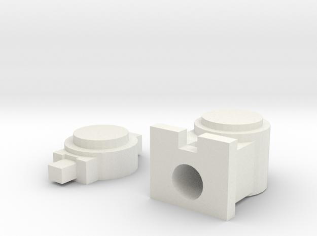 OO / HO Lamp & Tail Lamp in White Natural Versatile Plastic