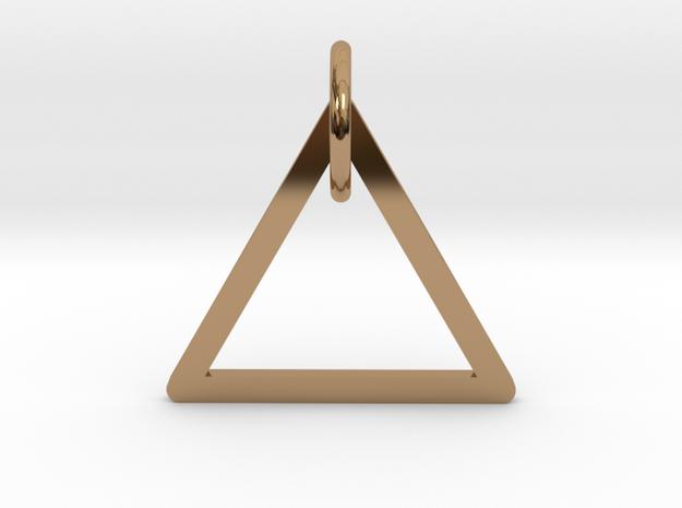 "Keychain ""Triangle"" in Polished Brass (Interlocking Parts)"