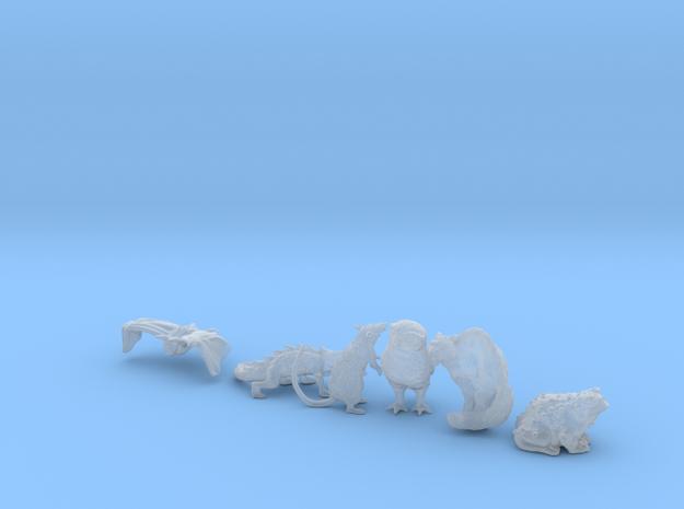 SIX ANIMAL FAMILIARS for 28mm, 32mm, 35mm miniatur