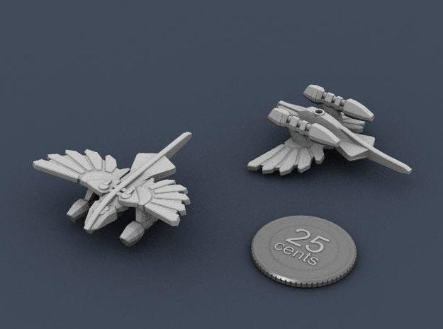 Murustan Salamander class Scout 3d printed Renders of the model, with a virtual quarter for scale.