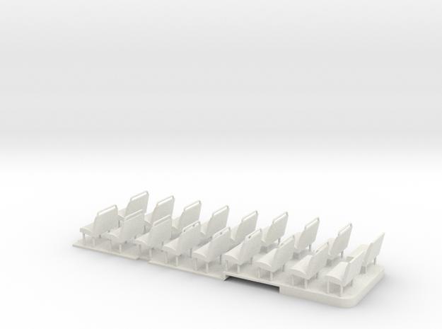 1:43 RF Green Line Floor & Seats in White Natural Versatile Plastic