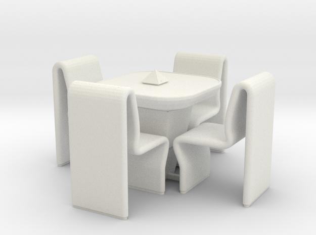 Ten Forward Table Set (Star Trek Next Generation) in White Natural Versatile Plastic: 1:30