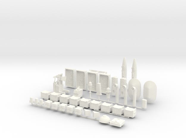 Docking Bay, 1:43, 1 of 2 in White Processed Versatile Plastic