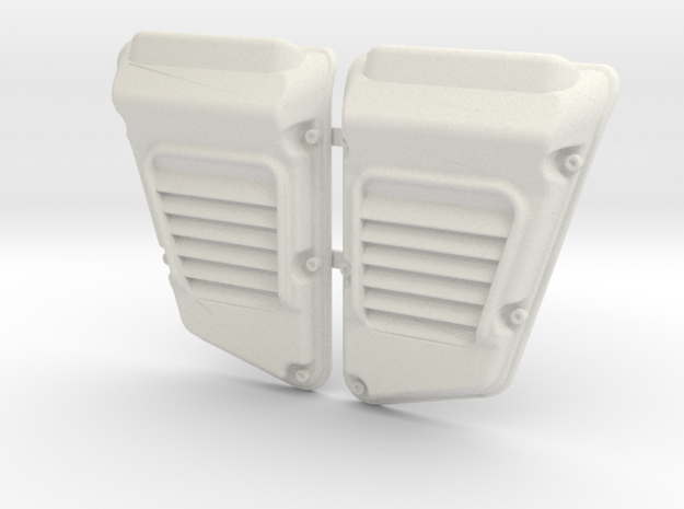 Land Rover Defender Wolf Intakes (pair) in White Strong & Flexible