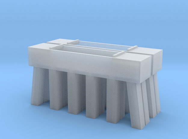 Bridge N Pier Concrete 3 in Smooth Fine Detail Plastic