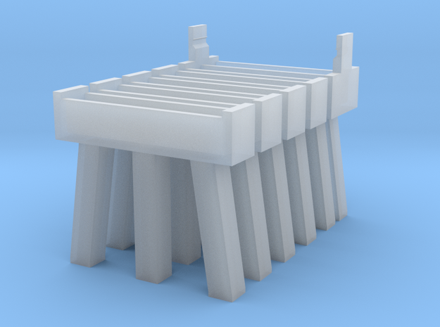 Bridge N Pier 1 and 2 Five Pack in Smooth Fine Detail Plastic
