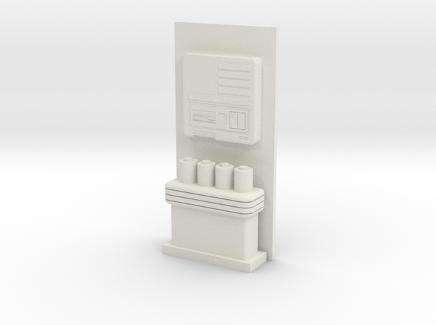 Medbay Console and Wall (Star Trek Next Generation in White Natural Versatile Plastic: 1:30