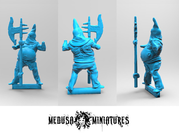 28mm mini EXECUTIONER  rpg, D&D  in Smooth Fine Detail Plastic