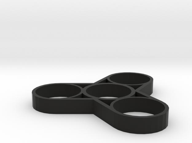 "Fidget Spinner ""Weight Reduction"" in Black Natural Versatile Plastic"