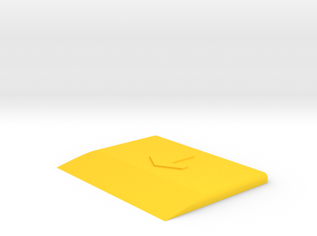 Sticker/Screen Protector Application Assist  in Yellow Processed Versatile Plastic