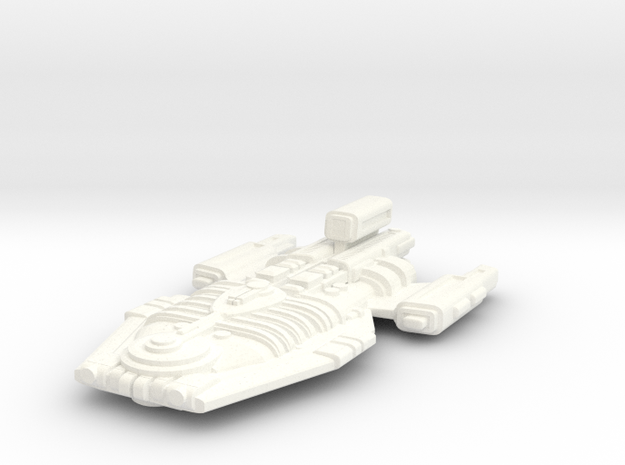 Enemy Cruiser in White Strong & Flexible Polished
