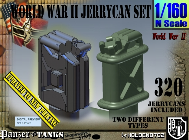 1/160 US & German Jerrycans Set01 in Frosted Extreme Detail