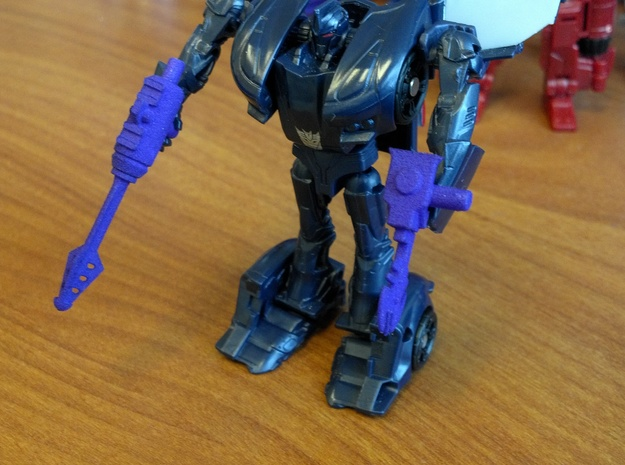 3mm TFSS Barricade Weapons in Purple Processed Versatile Plastic