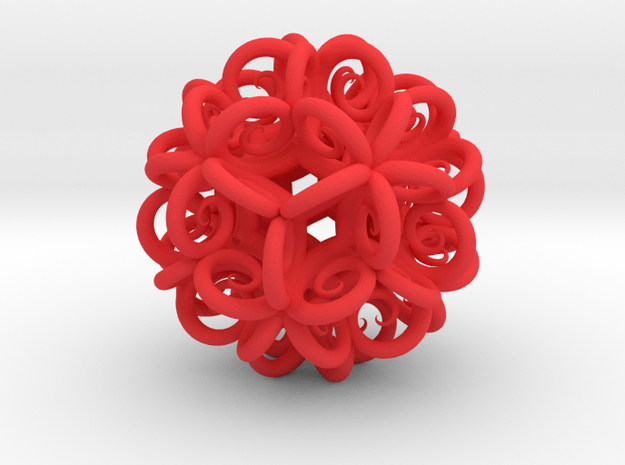 Spiral Fractal Clew in Red Strong & Flexible Polished