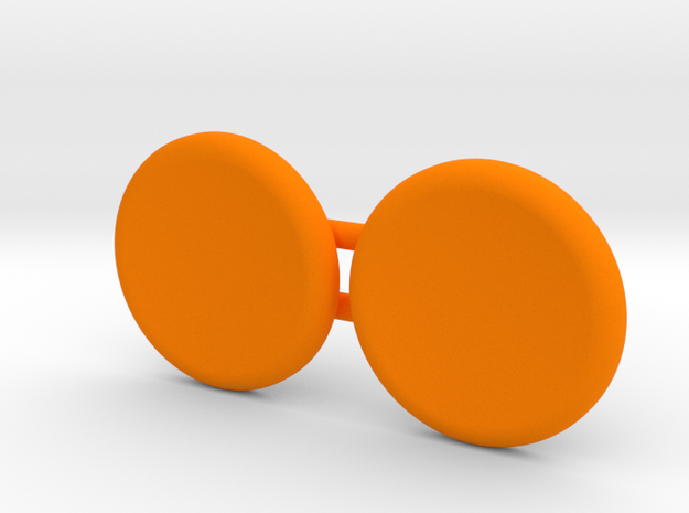 Magnetic spinner caps for UFO deluxe spinner ONLY in Orange Processed Versatile Plastic