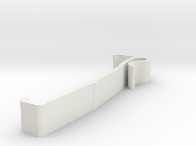 Blind Valance Clip 00136 in White Natural Versatile Plastic