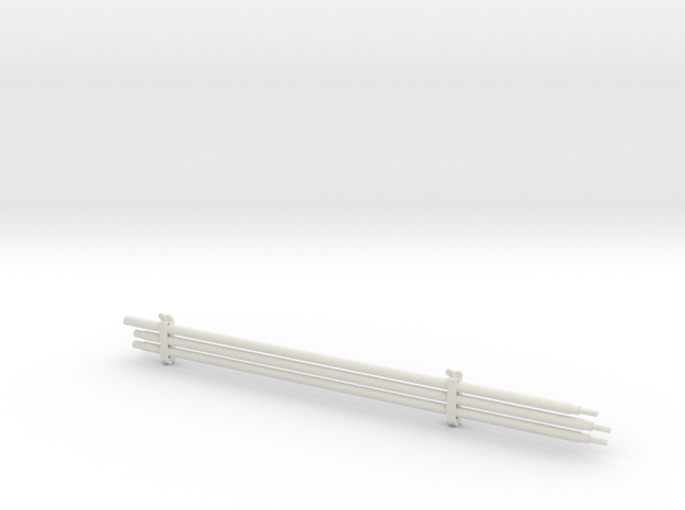 1/16 Su-152 Cleaning Rods and Clamps in White Strong & Flexible
