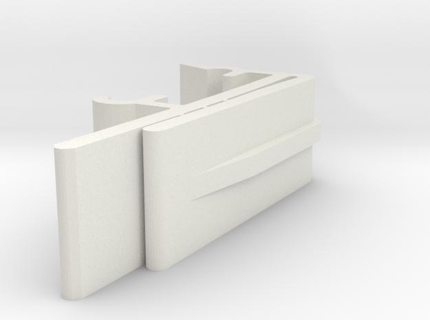 Vertical Valance Clip 1 1/2 A - 4 in White Natural Versatile Plastic