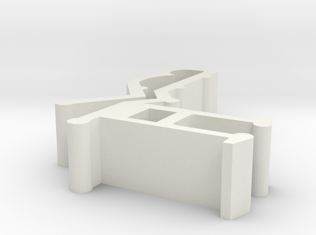 Blind Valance Clip 09G in White Natural Versatile Plastic