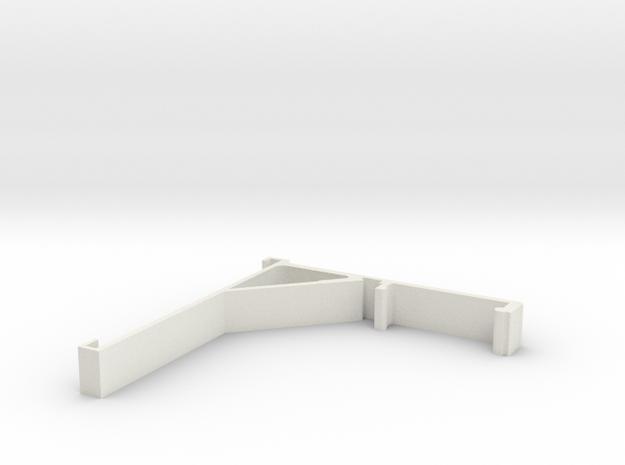 Vertical Valance Panel 802 in White Natural Versatile Plastic