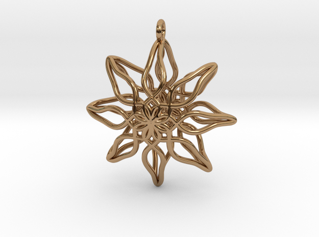 Change Flower Pendant in Polished Brass