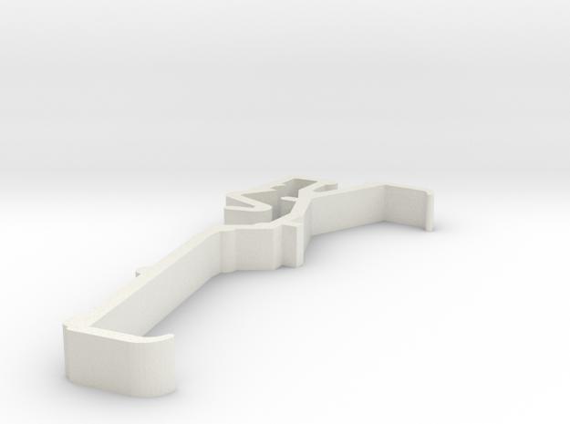 Blind Valance Clip 00151A in White Natural Versatile Plastic