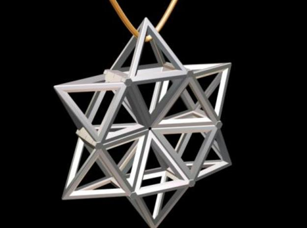 Star Pendant in White Natural Versatile Plastic