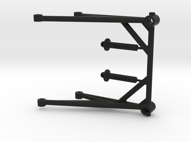 JConcepts - Cube Body Mount - 3.0 in Black Natural Versatile Plastic