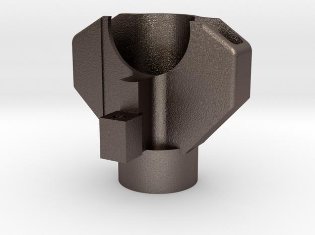 Oscimed Saugdüse / Vacuum nozzle - OSC 240 in Polished Bronzed Silver Steel