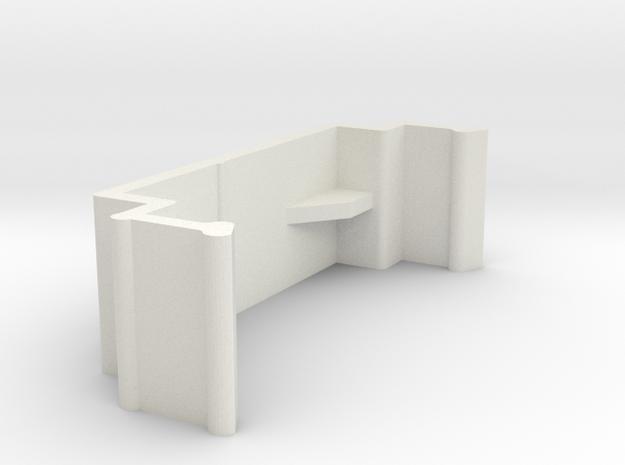 Blind Valance Clip 10D in White Natural Versatile Plastic