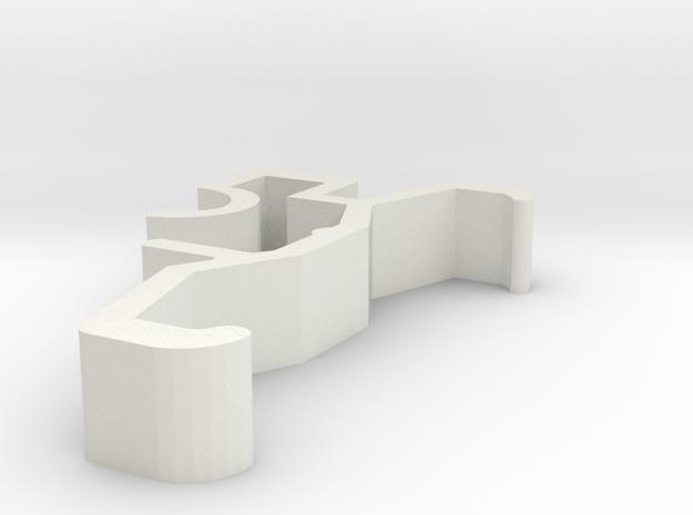 Blind Valance Clip 00129 SM in White Natural Versatile Plastic