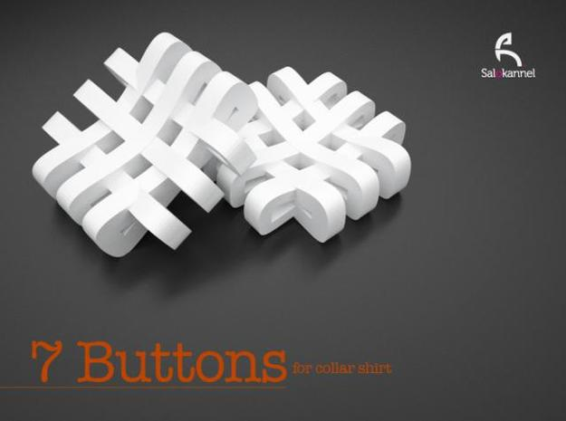 #-buttons for collar shirt - 7pcs. 3d printed 7 Buttons