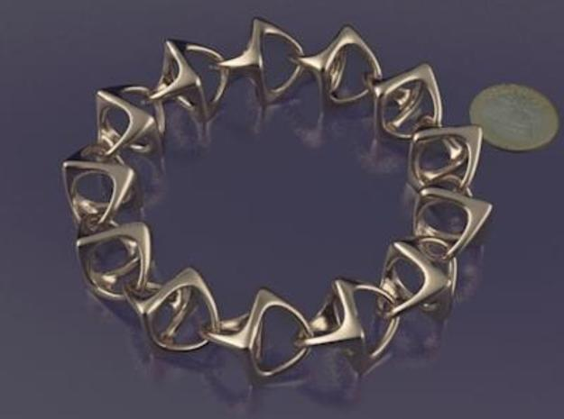 Artistic bracelet 001 in Polished Brass (Interlocking Parts)