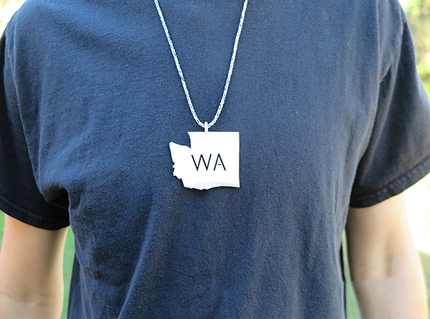 Washington State Pendant in White Strong & Flexible