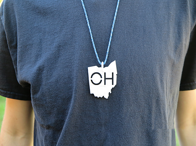 Ohio State Pendant in White Natural Versatile Plastic