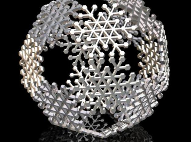 Snowflake #6 Ball Ornament 3d printed Description