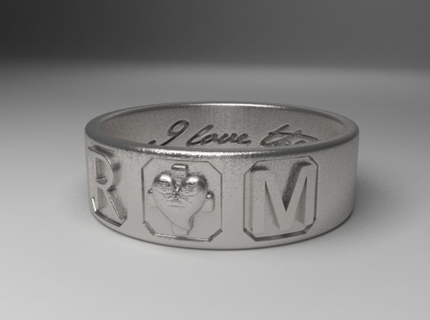 R and M Size 8  in Natural Silver