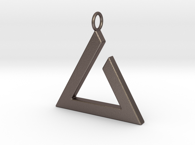 Igni Pendant in Polished Bronzed Silver Steel