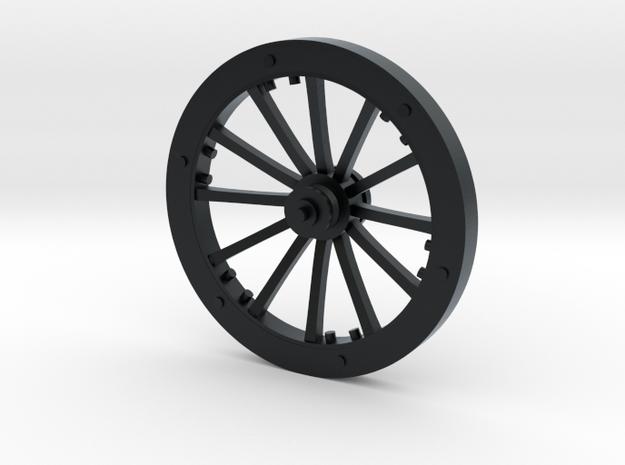 Small Wheel in Black Hi-Def Acrylate