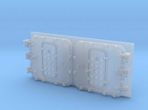 1/96 Burke Specific Doors - Closed Ver 2 in Smooth Fine Detail Plastic